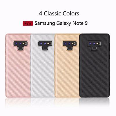 Soft Case For Samsung Galaxy Note 9 8 S9 TPU Carbon Fiber Phone Case Back Cover