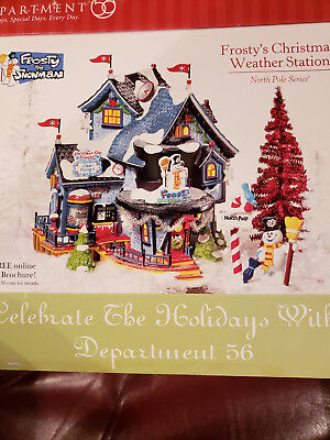 Dept 56 North Pole   FROSTY'S CHRISTMAS WEATHER STATION    Gift Set    #56.56787