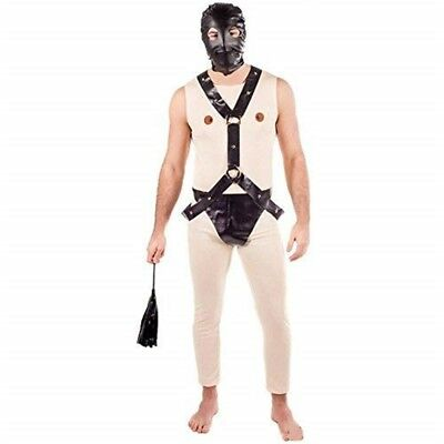 Fun Shack Adult Stag Fancy Dress Gimp Costume - Mens Male Adults Suit Party