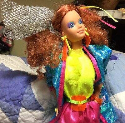Rare Vintage 1985 Barbie And Rockers Diva KAYLA Doll Glam Old School