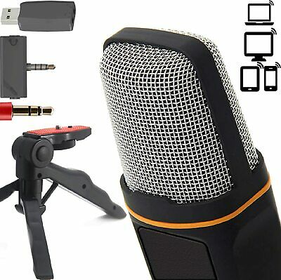 ZaxSound Professional Cardioid Condenser Microphone for PC,Laptop, iPhone, ipad