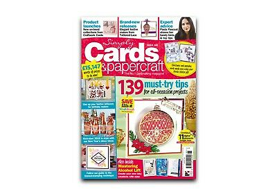 Simply Cards and Papercraft Magazine - Issue 185 + FREE GIFT - NEW & UNOPENED