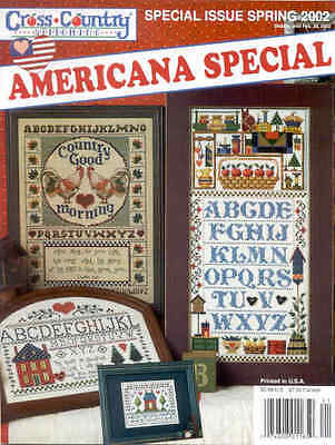 OOP CROSS STITCH magazine Cross Country Stitching Spring 2002 Americana  Special