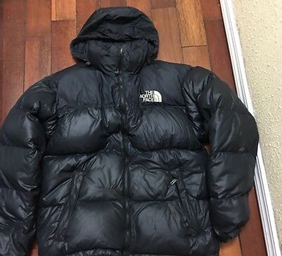 The North Face Mens Puffer Jacket 700 Down Black Size Medium W Hood