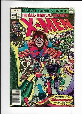 X - Men #107 ( Marvel Oct, 1977 ) STARJAMMERS VG