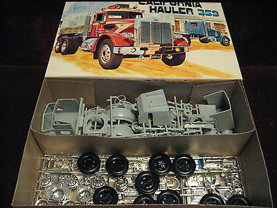 MIB RARE Orig 1969 VTG California Hauler 359 Peterbilt Truck Model/Kit AMT USA!!