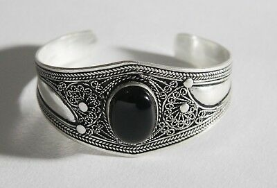 FREE SHIPPING Berber Silver Moroccan Tribal Antique Ethnic Bracelet Vintage 01
