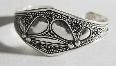 FREE SHIPPING Berber Silver Moroccan Tribal Antique Ethnic Bracelet Vintage 10