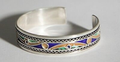FREE SHIPPING Berber Silver Moroccan Tribal Antique Ethnic Bracelet Vintage 07