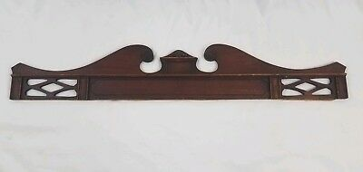 Vintage pediment molding furniture door window mirror architectural salvage