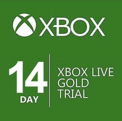 Xbox Live Trial Gold 14 Days 2 Weeks Membership for Xbox One / 360 Instant - CA