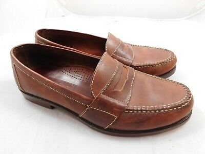 f2b2b53b27a Cole Haan Men s Douglas Shoes 12 Brown Penny Loafers Slip Ons WORN ONE TIME