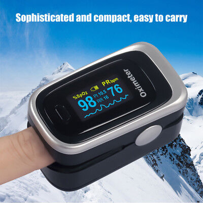 Finger Tip SpO2 PI Heart Rate Pulse Oximeter Blood Oxygen Saturation Monitor Bea