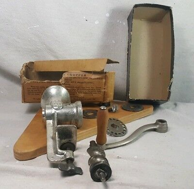 Vintage Keystone #10 Sausage Meat Grinder Made USA w Original Box