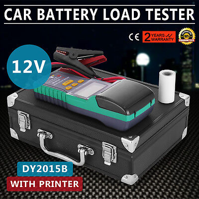 Battery Tester for 12V Lead-Acid Battery With Printer Load Convenient Analyzer
