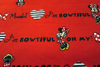 NEW Red Receiving Blanket 32x40 Minnie Mouse Cotton Flannel Baby Shower Gift