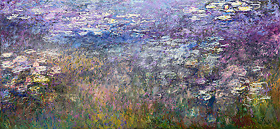 Water Lilies VII by Claude Monet A1+ High Quality Art Print