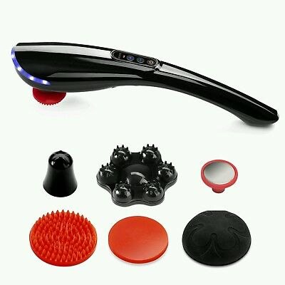 NEW Electric Massager Back Neck Foot Vibrating Therapy Machine with 6 parts