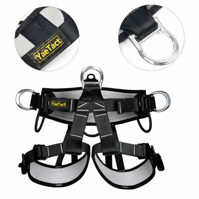 Tree Caving Safety Belt, Half Body Climbing Harness for Rappelling Climbing