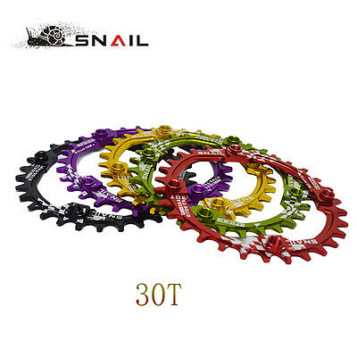 SNAIL Bike Crank 104BCD Round 30T Chainring Narrow Wide Circle Crankset Plate