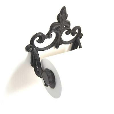 Retro Vintage Toilet Paper Holder Cast Iron Rustic Tissue Roll Hanger Bathroom