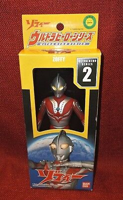 Bandai Ultra Hero Series 2 ULTRAMAN ZOFFY Plastic Vinyl Figure MIB 2003 NEW
