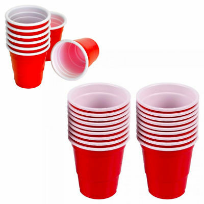 100Ct Red Mini Cups 2oz Plastic Shot Glasses Jello Jelly Drink Party Disposable