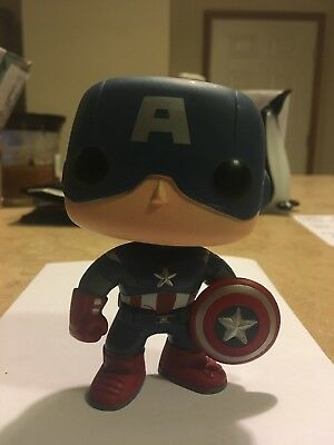 Captain America Funko Pop #10 Bobble-head Vaulted Loose OOB Authentic!