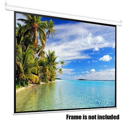 100'' Portable Foldable Projector Screen 4:3 HD Home Theater Outdoor 3D Movie US
