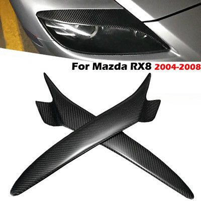 Carbon Fiber Painted Eyebrows Headlight Eyelids Cover For Mazda Rx8 2004-2008