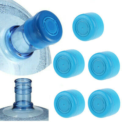 5X Non-Spill Water Snap On Cap Replacement Bottle Reusable 55mm 3-5 Gallon Jug