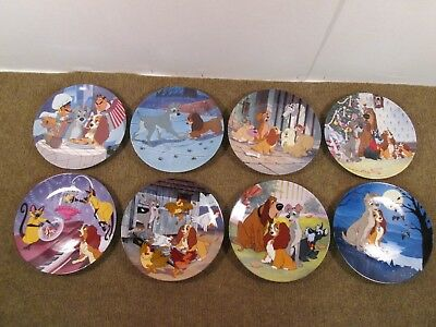 Disney's Lady and the Tramp Knowles Collector Plate Set of 8 Limited Edition