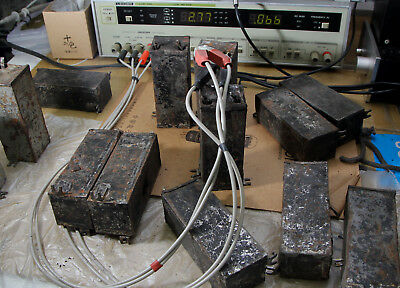 Vintage Western Electric 21D 21 Series Black Condenser 2.15MF Capacitors X 2