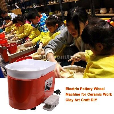 AC 220V 250W Electric Pottery Wheel Machine for Ceramic Work Clay Art Craft B-