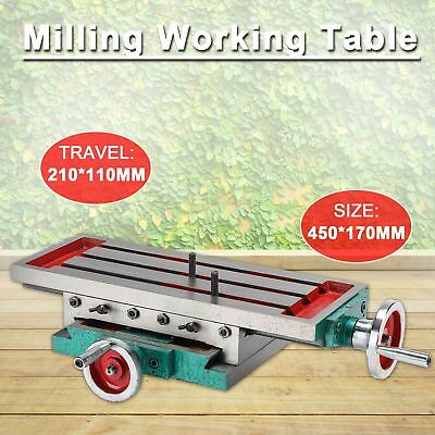 2 Axis Milling Compound Working Table Cross Sliding Bench Drill Vise Fixture.