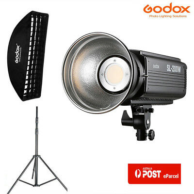 AU Godox SL-200W 200W Studio LED Video Continuous Light+35*160 Softbox Stand Kit