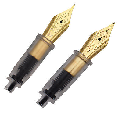 2pcs Moonman Fountain Pen Metal Nibs 2 Nibs Replaceable Combination 0.38&0.5mm