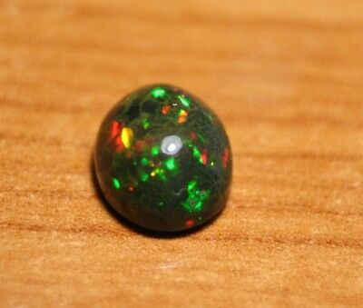 2.8ct Welo Black Opal Cabochon - Slightly Cracked Confetti AAA Opal - See Video
