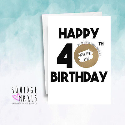 Personalised 40th Birthday Scratchcard * Gift Surprise Reveal * Scratch off card