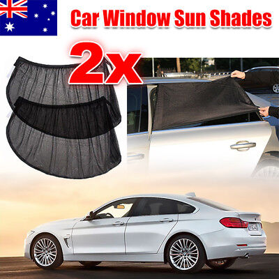 2x Universal Sun Shades Socks Rear Side Seat Car Window Sox Kids Protection AU