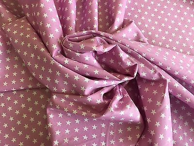 Redsbaby Pram fitted sheet for carrycot bassinet Rose Pink Star 100% cotton
