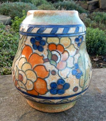 Charlotte Rhead Crown Ducal Vase Byzantine art deco pottery vase 15