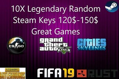 10X Legendary Random Steam Keys 120$-150$ Great Games FAST DELIVERY Region free