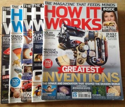 5x How It Works Magazines - Issues 46 47 48 49 50 bundle