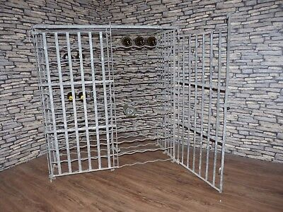 Vintage Industrial French Vineyard 200 Bottle Wine Cage Restaurant Cafe Bar Rack