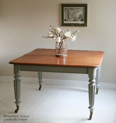 Stunning Antique Dining Table Painted in Annie Sloan Paris Grey