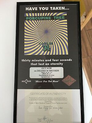 Original Poster Flyer Porcupine Tree + certificate of Authenticity