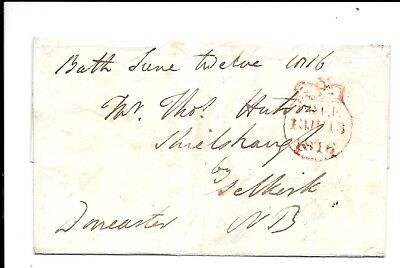 Somerset 1816 Entire To Selkirk Crown Free .Signed Doncaster. Bath/109 Cds