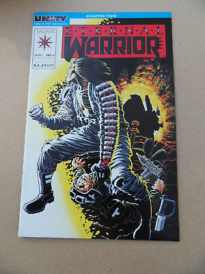 Eternal Warrior 1 . F. Miller Cover / Unity X-Over . Valiant 1992 . VF / NM