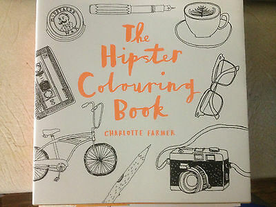 The Hipster Adult Colouring Book Brand New Free Post (B87)